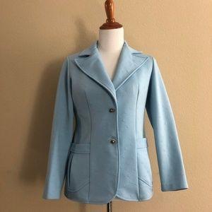 Vintage 1960'S Pastel Blue Blazer